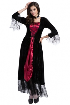 Womens Sexy Nightclub Long Sleeve Witch Adult  Costume Black