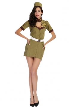 Womens Sexy Military Halloween Costume
