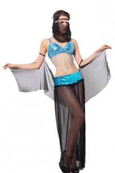 Womens Sexy Indian Belly Dancing Costume Black