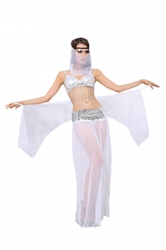 Womens Sexy Indian Belly Dancing Costume White