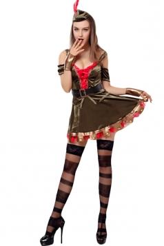 Womens Sexy Chic Robin Hood Halloween Costume Black