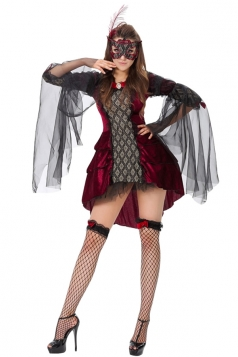 Womens Sexy Chic Halloween Evil Queen Costume Black