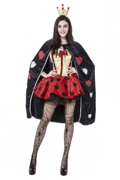 Womens Alice Queen of Heart Halloween Costume Red