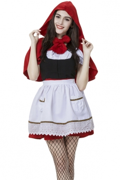 Womens Halloween Little Red Riding Hood Costume Red