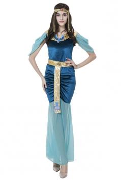 Womens Egypt Goddess Halloween Costume Blue