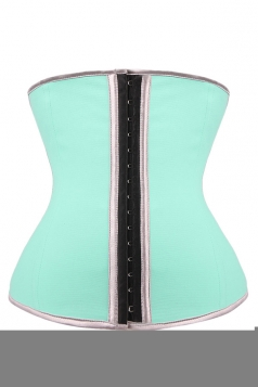 Womens Slimming Steel Buckle Waist Training Corset Turquoise