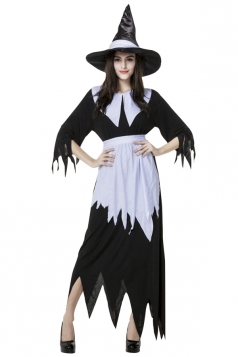 Womens Adult Irregularly Chic Halloween Witch Costume Black