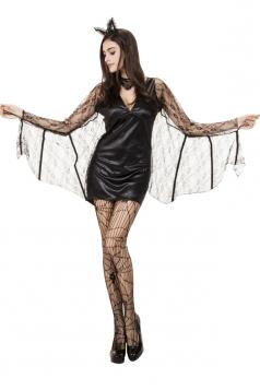 Womens Adult Sexy Halloween Batman Costume Black
