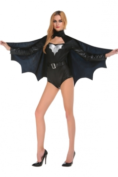 Womens Sexy Adult Halloween Batman Costume Black