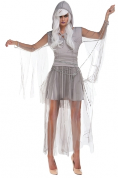 Womens Adult Sexy Zombie Bride Halloween Costume Gray