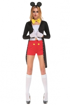 Womens Adult Sexy Mickey Halloween Costume Black