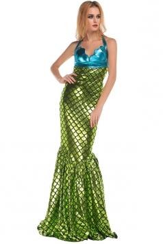 Womens Adult Sexy Halloween Mermaid Costume Green