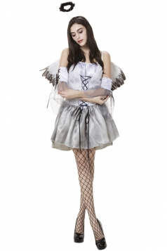 Womens Adult Sexy Halloween Angel Costume White