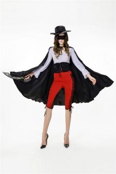 Womens 2015 Masked Zorro Superhero Costume Red
