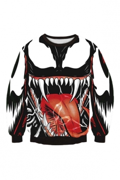 Womens 3D Venom Pullover Ultimate Spider-Man Halloween Sweatshirt Red