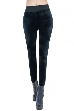 Womens Pretty Lined High Waisted Leggings Black
