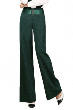 Womens Elegant Plus Size Palazzo Leisure Pants Blue