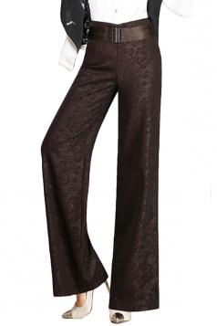 Womens Elegant Plus Size Palazzo Leisure Pants Ruby