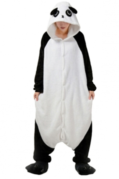 Womens Hooded Panda Pajamas Onesies Animal Costume Black