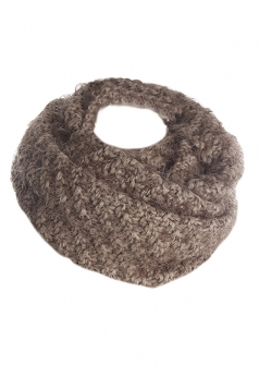 Womens Pretty Mohair Warm Wrap Collar Scarf Coffee