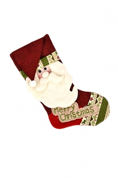 Womens Pretty Merry Christmas Stocking Accessory Red
