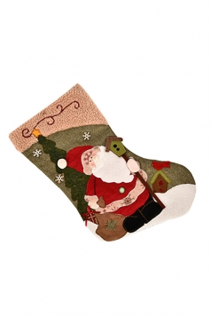 Womens Pretty Christmas Snowman Stocking Accessory Green