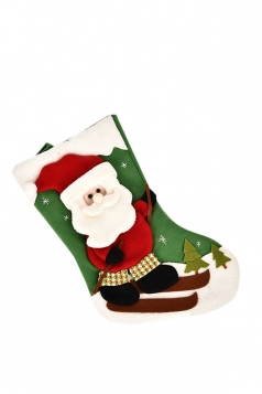 Womens Cute Christmas Santa Claus Stocking Accessory Green