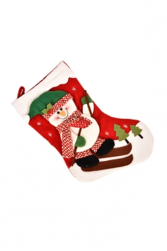Womens Cute Christmas Frosty Snowman Stocking Accessory Red