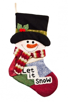Womens Cute Applique Embroidery Christmas Stocking Accessory Green