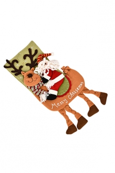 Womens Cute Santa Claus Christmas Stocking Accessory Green
