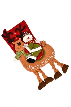 Womens Cute Santa Claus Christmas Stocking Accessory Red