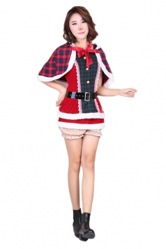 Womens Animation Lovelive Koizumi Hanayo Christmas Cosplay Costume Red