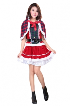 Womens Animation Kousaka Honoka Christmas Outfit Cosplay Costume Red