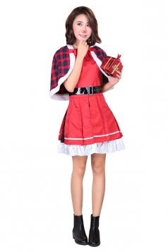 Womens Animation Lovelive Yazawa Nico Christmas Cosplay Costume Red