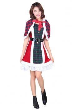 Womens Animation Lovelive Sonoda Umi Christmas Cosplay Costume Red