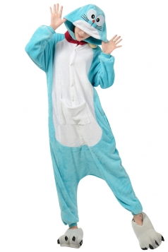 Womens Hooded Onesies Doraemon Pajamas Animal Costume Blue
