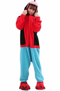 Womens Cute Warm Hooded Goofy Pajamas Jumpsuit Costume Red