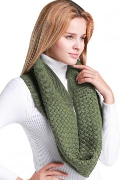 Womens Stylish Plain Thick Warm Scarf Deep Green