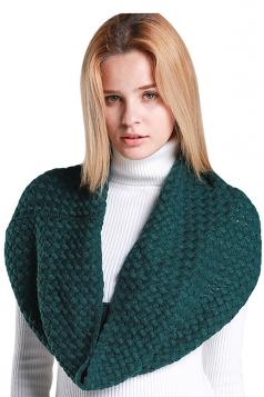 Womens Stylish Plain Thick Warm Scarf Green