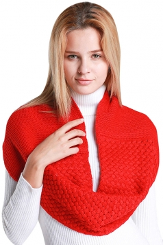 Womens Stylish Plain Thick Warm Scarf Red
