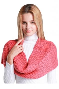 Womens Stylish Plain Thick Warm Scarf Watermelon Red