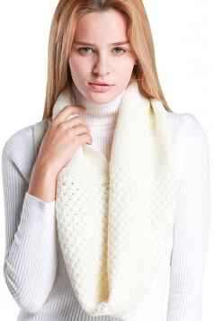 Womens Stylish Plain Thick Warm Scarf White