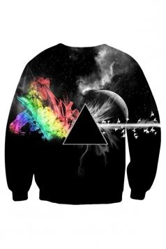 Womens Pink Floyd Hd Wallpaper Printed Sweatshirt Black