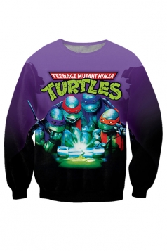 Womens Teenage Mutant Ninja Turtles Printed Sweatshirt Purple