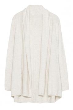 Womens Stylish Plain Long Sleeve Knitted Cardigan Beige White
