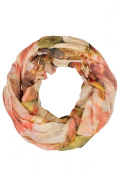 Womens Stylish 3D Parrot Digital Print Voile Scarf Pink