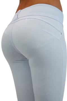 Womens Sexy Stretchy Zipper High Waisted Jeans White