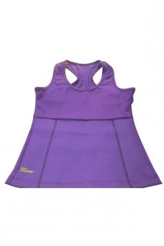 Womens Slimming Neoprene H Back Tank Corset Purple