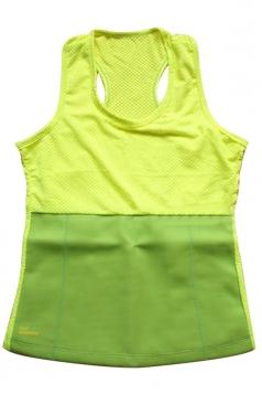 Womens Slimming Neoprene H Back Tank Corset Yellow