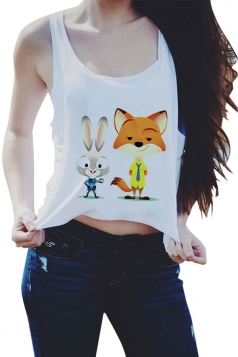 Womens Casual Judy and Nick Printed Crop Top Yellow